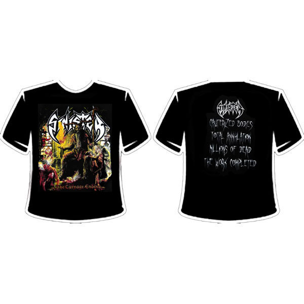 SINISTER - THE CARNAGE ENDING T-SHIRT