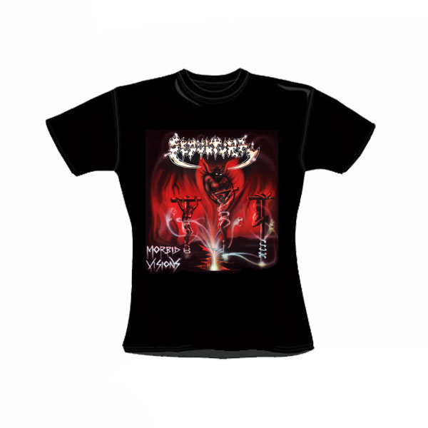SEPULTURA - MORBID VISIONS GIRLY T-SHIRT