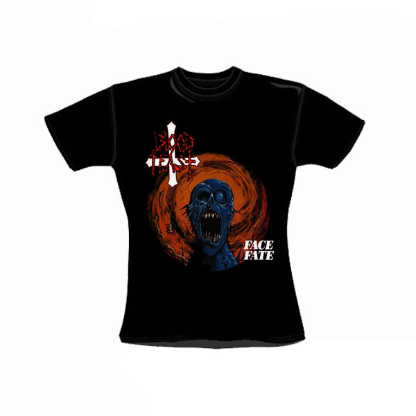 BLOOD FEAST - FACE FATE GIRLY T-SHIRT