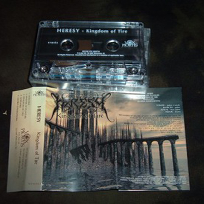 HERESY / CICATRIX - KINGDOM OF TIRE SPLIT (CASSETTE)