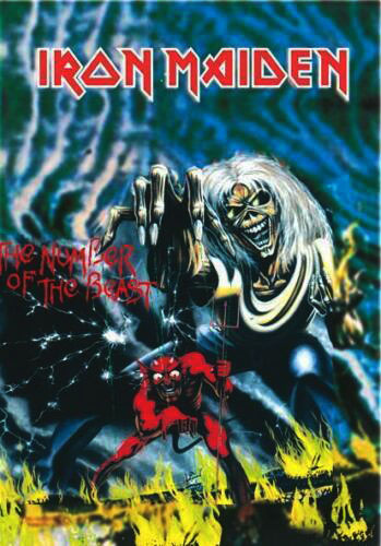 IRON MAIDEN - THE NUMBER OF THE BEAST FLAG