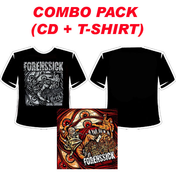 FORENSSICK - CONTROL CORROSION COMBO PACK (CD + T-SHIRT)