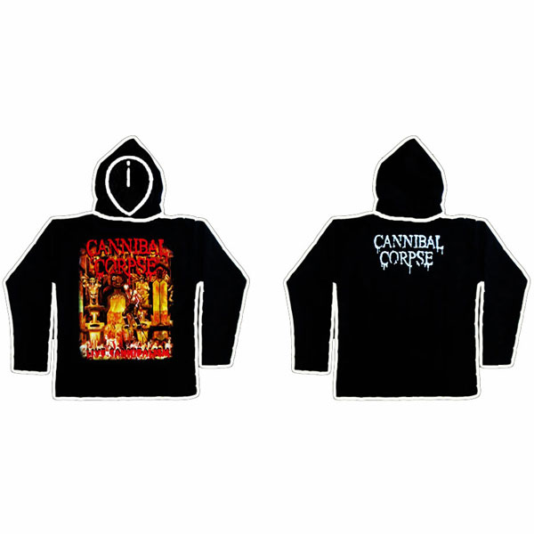 CANNIBAL CORPSE - LIVE CANNIBALISM HOODIE